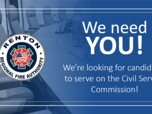 Renton RFA Seeks Candidates for Civil Service Commission