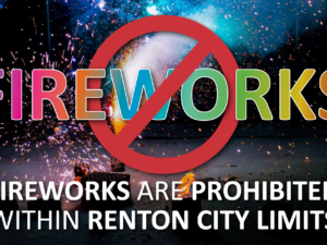 Sale and Use of Fireworks Prohibited Within Renton City Limits