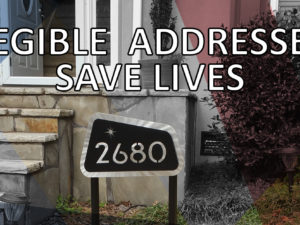 Legible Addresses Save Lives